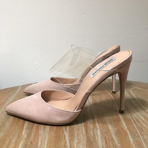 carpintero Cerdo viceversa  Steve Madden Shoes | Daydream Blush Suede Pvc Heel | Poshmark